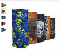 Latest Designs Outdoor Cycling Veil Multi Skull Wicking Seamless Sports Bicycle Riding Bandanas