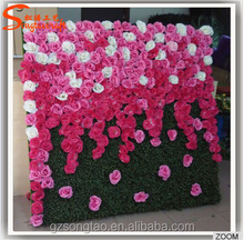 Best selling quality customized rose and peony artificial flower wall for decoration