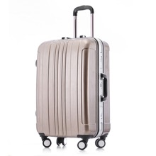 Popular High Quiality ABS&PC Material Aluminum Frame Luggage/Suitcase