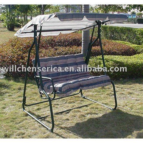 2 PERSON STEEL SWING SET WITH FABRIC