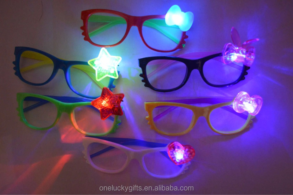 Promotional Item Plastic Cheap Led Fancy Party Glasses For Children