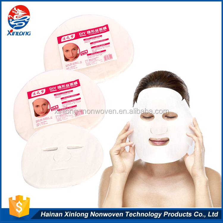 Hot selling promotional custom light dry and soft DIY disposable beauty facial paper mask for woman