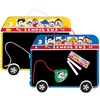 for children cute bus shaped plastic chalkboard