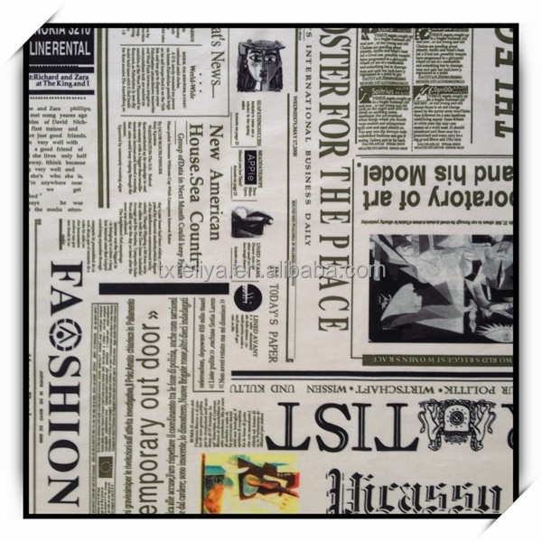 Knitting fabric face with newspaper print for upholstery living room sofa