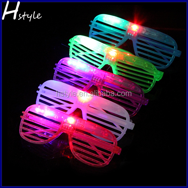 Factory Wholesale Window Shutter Shaped Led Glow Glasses SL020