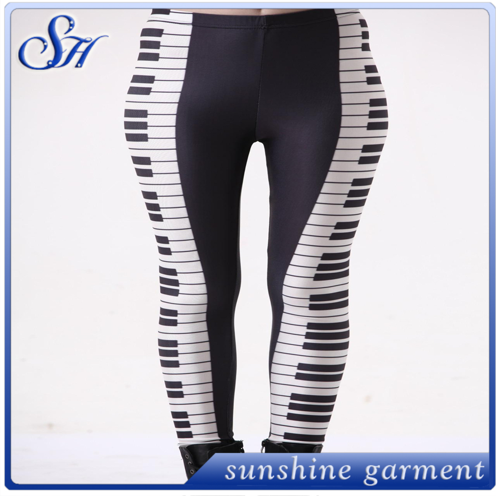 wholesale custom printed leggings brushed 92% polyester 8% spandex milky silk leggings