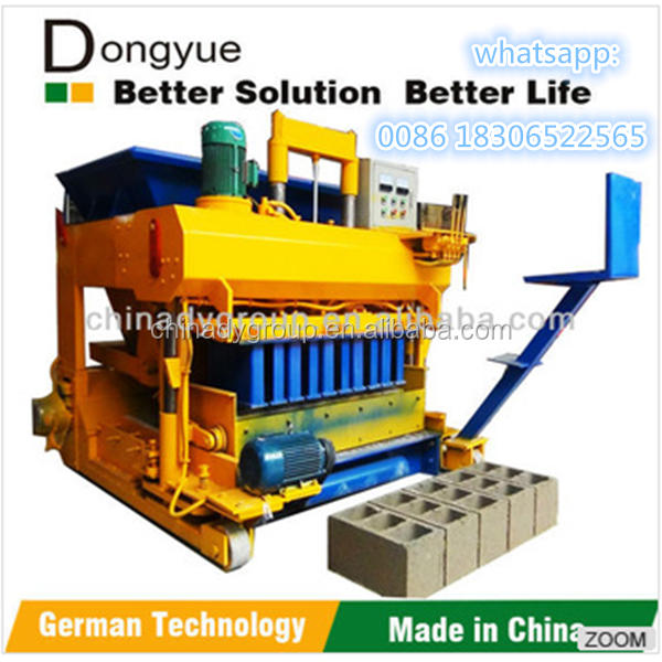 efficiency simple machine QTM6-25 movable flyash brick making machine