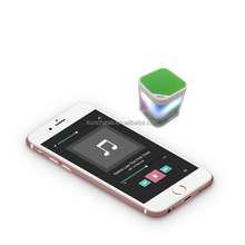 Portable LED Bluetooth Speaker Stereo Cube Mini Wireless Bluetooth 3.0 Speaker with Microphone