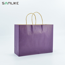 Large Capacity Twisted Handle Brown Kraft Paper Bag
