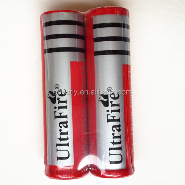 original Wholesale 3.7V UltraFire flat lithium battery 3000mAh lithium ion battery with button top 18650 battery 3000mah