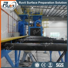 Ruvii RVH69 Full-Automatic Advanced Technology Shot Peening H Steel Plate Beams Cleaning Roller Conveyor Shot Blasting Machine