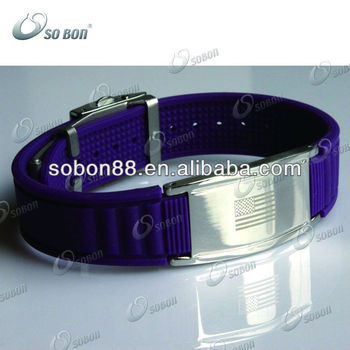 adjustable magnetic top 10 silicone wristband