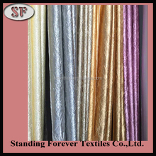 Newly 100% polyester satin fabric pleated for curtain cushion table cover