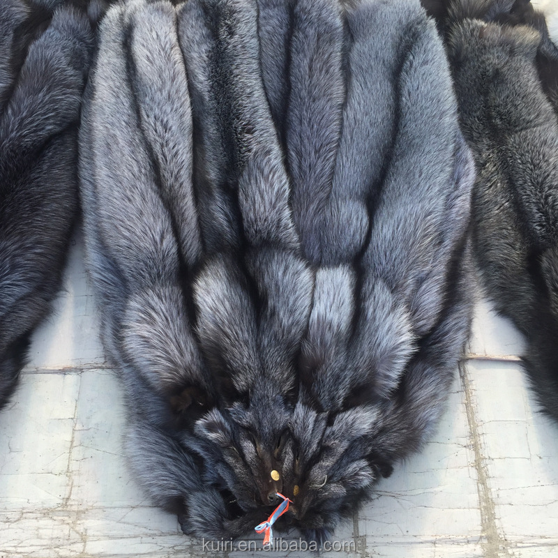 High Quality Natural Color Raw Silver Fox Fur Skin/Real Fur Pelt wholesale