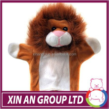 China manufacturer high quality plush toy puppet hand,cartoon hand puppet