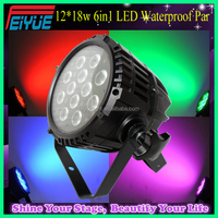 Professional Stage Lighting Die-casting Aluminum Outdoor Waterproof IP65 Par Can 6in1 RGBWAUV 12*18w LED Par Light