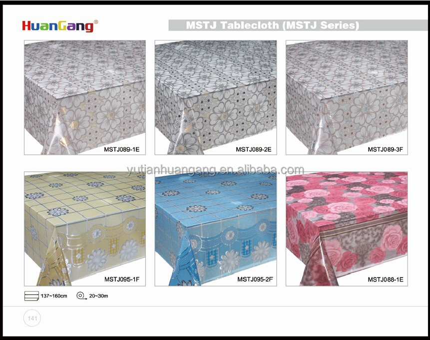Pvc Transfer Film Laminated Pvc Crystal Board Table Cover