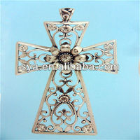 Hollow jewelry charms laser cut craft cross pendants for jewelry making