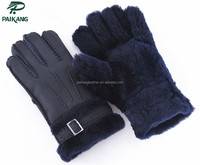 Winter warm high quality xxxl leather work gloves for men