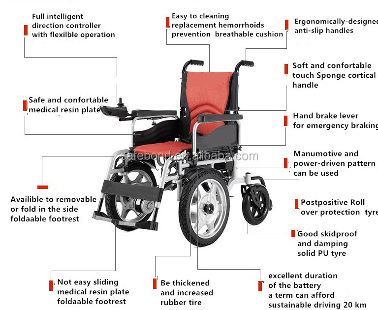 2016 Low price medical equipment electric wheelchair