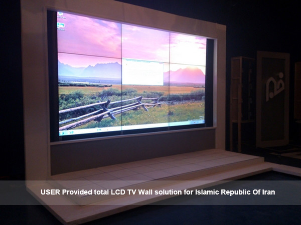 55 Inch 5.3mm bezel 3x3 lg video wall with ultra narrow bezel original lg tv lcd display panel