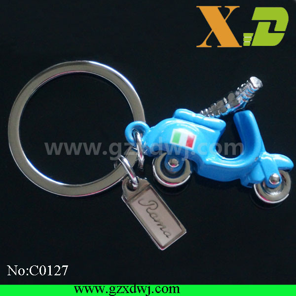 Fashion customized metal cool motorcycle Keychain