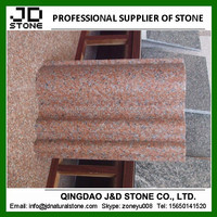 cheap red granite price, g386 granite from shandong, red granite contour line