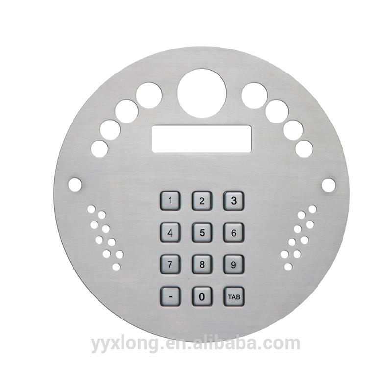 Professional wireless gsm door phone intercom system 16 keys keyboard nameplates dome keypads