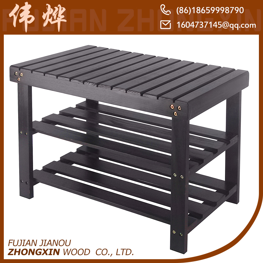 chinese supplier wooden changing shoes rack bench