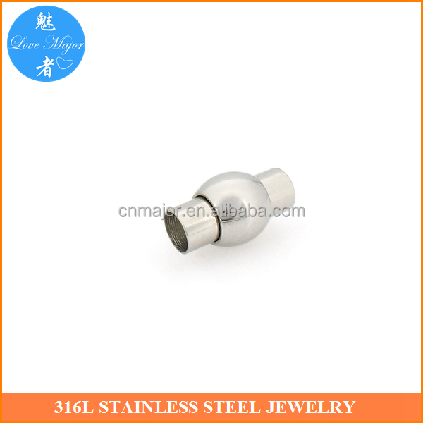latest shine polishing magnetic lock clasp for fashion leather jewelry findings