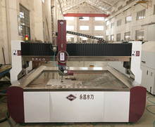 Dynamic 5 axis granite waterjet cutting machine