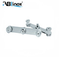 Newest 304 Stainless steel glass connector clamp prices for door and window
