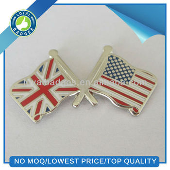 USA and UK friendship flag lapel pins