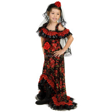 school girl costume kids girl costumes sexy college Red Rose Spanish Dancer Girl Costume QBC-8503