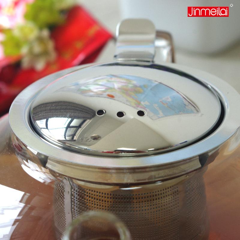 Borosilikatglas teekanne, tee brauer, edelstahl  ~ Wasserkocher Tee