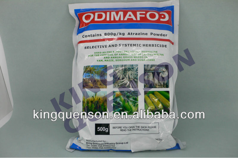 good quality herbicide atrazine 80wp control grass and broadleaf weeds in crops