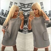Wholesale Women Clothing Lady Short Cotton Casual Wear Dresses