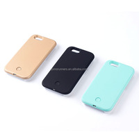 cell phone cover for iphone 5 se/5s/6/6s/6s plus selfie led light smart phone case