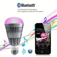 China Manufacturer CE rohs 6w e27 wifi Bluetooth phone control RGB 5050 led lighting bulb