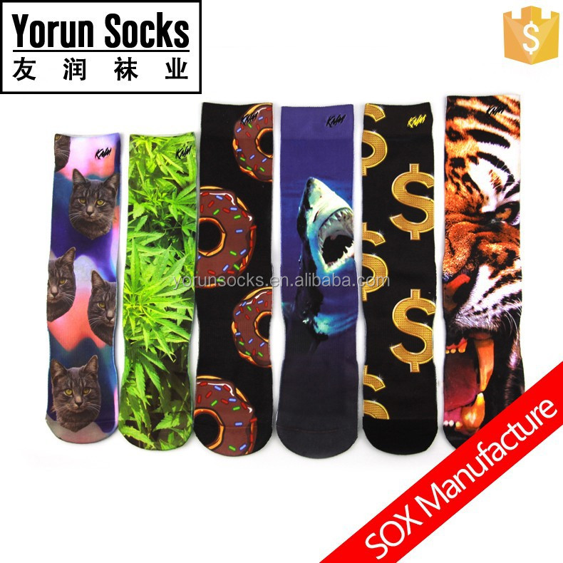 Personality Customized Sublimation Printing Socks for Men
