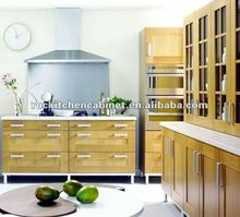 Honey Maple Shaker style Wood kitchen cabinet