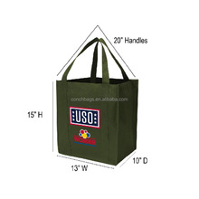 Promotion Environmentally Friendly Practical Custom Logo Reusable PP Non-woven Shopping Bag