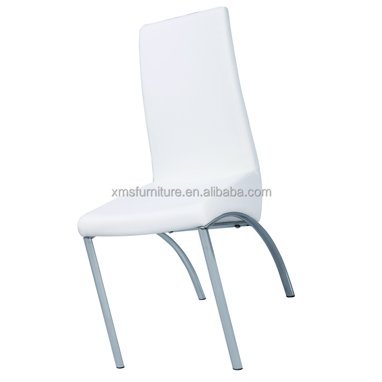 Wholesale cheap used design PU home goods chromed legs dining chair