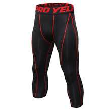 OEM sports gym compression workout fitness training pants for <strong>men</strong>