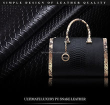 Exquisite snakeskin PU/PVC leather fabric door waterproof leather leather soft package hard pack