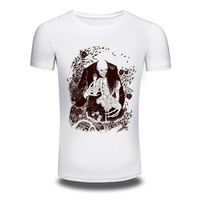 China men cotton t-shirt korea design