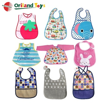 Safe-Easy Wash-Waterproof Silicone soft infant textile baby bib manufacturer