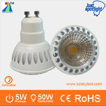 Luxury aluminum GU10 5.5w dimmable cabinet led mini spot light