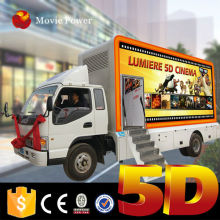 On sale truck mounted hydraulic lifting platform 5d truck mobile cinema