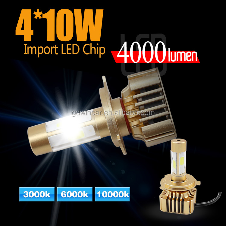 New Products Auto Parts 80W 8000Lm Led Lighting Lamp And LED Headlight Bulbs H4 H1 H3 H11 9006 9004 H27 H7